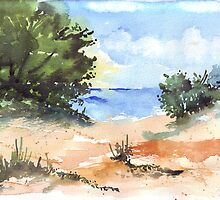 Beach at Mvoti by Maree  Clarkson