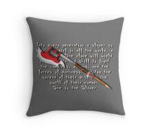 Buffy Slayer Scythe Throw Pillow