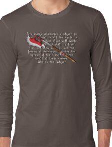 Buffy Slayer Scythe Long Sleeve T-Shirt
