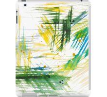 Watercolor abstract strokes iPad Case/Skin