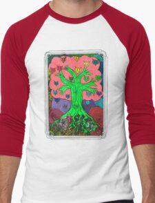 Percentum Fruit Tree Men's Baseball ¾ T-Shirt
