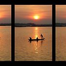 Mekong River Commute at Sunset by KelseyGallery