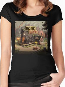gravity fall mystery shack Women's Fitted Scoop T-Shirt