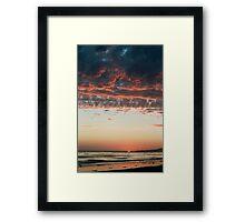 Pink Cumulus Sunset Framed Print