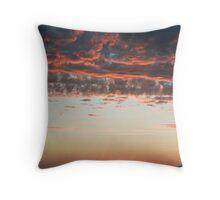 Pink Cumulus Sunset Throw Pillow