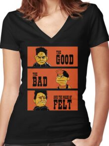 Angel - The Good, the bad, and the made of felt Women's Fitted V-Neck T-Shirt