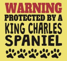 Protected By A King Charles Spaniel One Piece - Short Sleeve