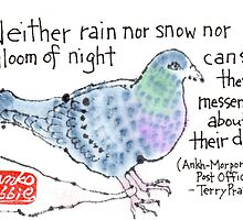 Carrier Pigeon by dosankodebbie