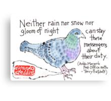 Carrier Pigeon Canvas Print