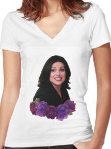 Regina is cute af Women's Fitted V-Neck T-Shirt