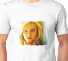 Elisha Cuthbert - Oil Painting Unisex T-Shirt