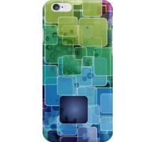 trendy glowy cube collage iphone case iPhone Case/Skin
