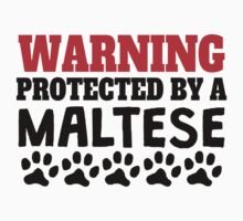 Protected By A Maltese Kids Tee