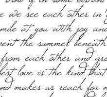 Dear Allie - a letter from Noah Sticker