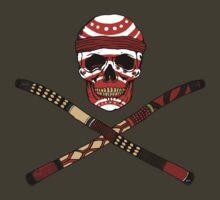 Skull and Crossed Didgeridoo by ZugArt