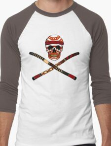Skull and Crossed Didgeridoo Men's Baseball ¾ T-Shirt