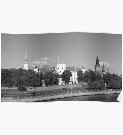 Spires & Towers, Riga ( Turquoise Version ) Poster