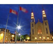 Notre Dame Cathedral Basilica, Ottawa, Canada Photographic Print