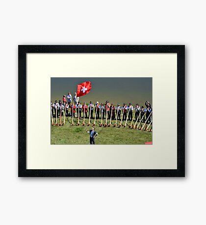 Alpine Horn Festival Framed Print