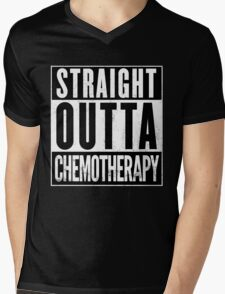 Straight Outta Chemotherapy Mens V-Neck T-Shirt
