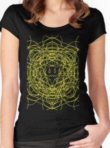 Crop Cirlces - yellow Women's Fitted Scoop T-Shirt