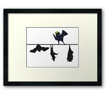 Top bat Framed Print