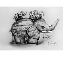 Upside Down Elephants Photographic Print