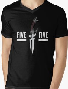 Buffy - Faith 5 by 5 minimalist poster Mens V-Neck T-Shirt