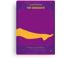 No135 My THE GRADUATE minimal movie poster Canvas Print