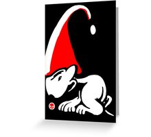 English Bull Terrier Gnome Greeting Card