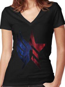 Mass Effect: Paragon-Renegade Women's Fitted V-Neck T-Shirt