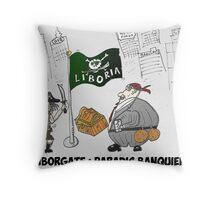 Liboria le paradis banquier de Liborgate Throw Pillow