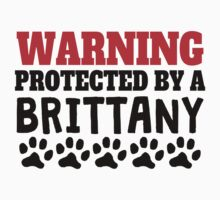 Protected By A Brittany Kids Tee
