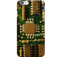 Retro Circuits #1 iPhone Case/Skin