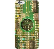 Retro Cicuits #4 Circle iPhone Case/Skin