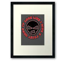 DILLIGAF Design  Framed Print