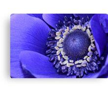 Blue Flora Canvas Print