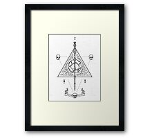 Deathly Hallows (White) Framed Print