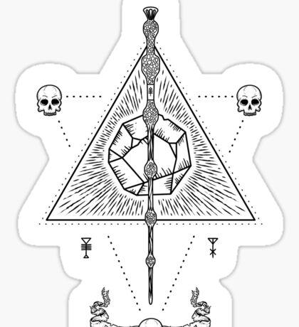 Deathly Hallows (White) Sticker