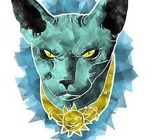 Geometric Cat by BovaArt