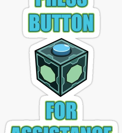 Mr. Meeseeks Easy Button Sticker