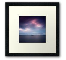Island at dusk Framed Print