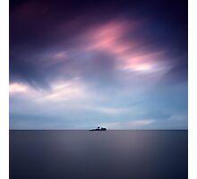 Island at dusk Photographic Print