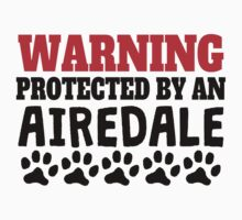 Protected By An Airedale Kids Tee