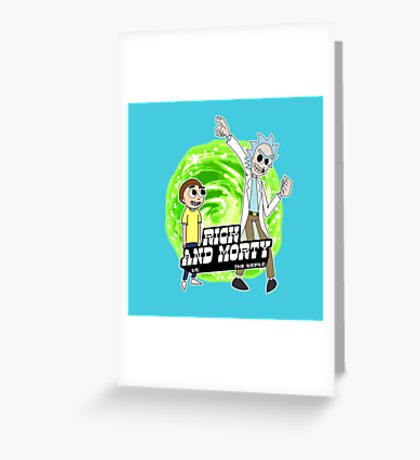 Rick and Morty vs The World Greeting Card