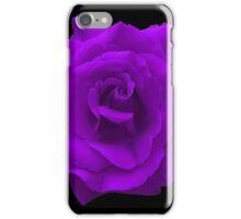 Single Large High Resolution Purple Rose iPhone Case/Skin