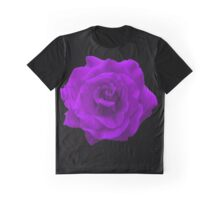 Single Large High Resolution Purple Rose Graphic T-Shirt