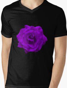Single Large High Resolution Purple Rose Mens V-Neck T-Shirt