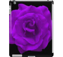 Single Large High Resolution Purple Rose iPad Case/Skin