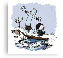 Calvin and Hobbes Beyond the Wall Canvas Print